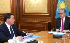 Meeting with Prime Minister Askar Mamin
