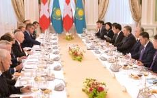 The Presidents of Kazakhstan and Switzerland held talks in an expanded format