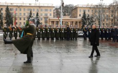 Participation in the ceremony of laying a wreath at the Victory Monument