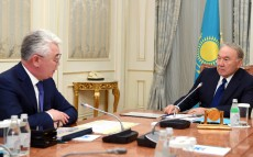 Meeting with Beibut Atamkulov, Minister of Defence and Aerospace Industry