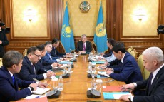 Meeting chaired by the President of Kazakhstan