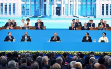 Participation in the solemn meeting on the 25th anniversary of Kazakhstan's Independence