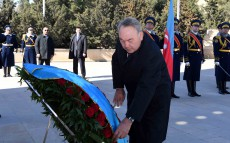Participation in flower-laying ceremonies to the Eternal Flame at the Martyrs' Lane and laying a wreath to the grave of Heydar Aliyev, Azerbaijan's National Leader
