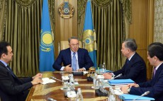 President Nursultan Nazarbayev holds meeting on implementation of the five institutional reforms