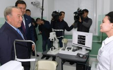 Visit to DaruZharygy ophthalmological centre