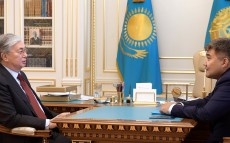 The Head of State receives newly appointed Ambassador of Kazakhstan to Ukraine Darkhan Kaletayev
